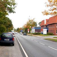 Ansicht des Mess-Kfz. RZ 208 von der Wärderstrasse kommend.