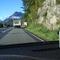 Anfahrt aus Richtung Oberau. Hinter der Werbetafel gehts zum Parkplatz rein, und der Meßwagen ist auch schon in Sichtweite.