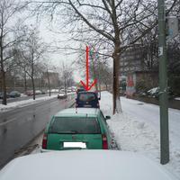 AUs dem blauen VW Caddy blitzt es mit Lidartechnik, Messwagen mit Kennzeichen B-SE 369.
