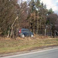 Das Messfahrzeug war diesmal ein Honda CR-V und nur aus der Gegenrichtung gut zu erkennen.