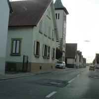 Nordhausen Richtung Nordheim. Kurz nach der Kurve kann man auf der linken Seite den silbernen Touran des LRA HN entdecken.