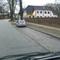 und hier das Messfahrzeug. Der silberne VW Golf Variant mit dem Kennzeichen HWI-VE 33. VE für Vetro??! Die Privatfirma die misst.
