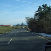 Anfahrt aus Richtung Weilheim. Es gelten 60 Km/H