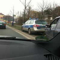 Polizeikontrolle ewt. mit Geschwindigkeismessung