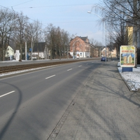 Anfahrt in Richtung Innenstadt