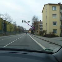 Fester Blitzer der Dritte von 4 Stück auf der Durchfahrt Richtung Lindau
