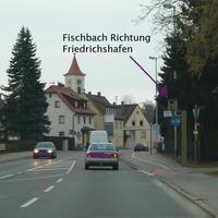 Ortseinfahrt Fischbach Richtung Friedrichshafen