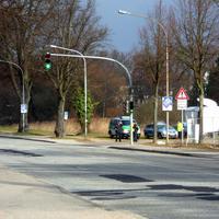 Gurt-und Handykontrolle durch die Polizei stadtauswärts am Falkendamm