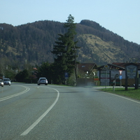 Anfahrt aus Richtung GAP. Wir passieren soeben die Ortseinfahrt von Oberau.