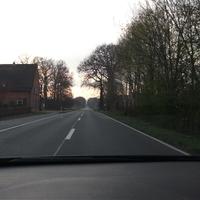 Fahrtrichtung Emstek von Drantum kommend.