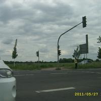 Meßstelle wurde fotografiert von der gegenüberliegende Fahrbahn