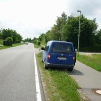 Km 0,5 Höhe der Einfahrt zum Kreisbauhof.