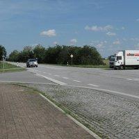 Ansicht auf den zu messenden Verkehr, aus Richtung Schwerin kommend.