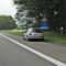 Der Messwagen stand während der gesamten Messung mit betätigtem Fahrtrichtungsanzeiger auf dem Standstreifen geparkt.