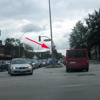 Rodigallee Richtung Autobahn - mittig