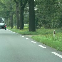 Erster Baum rechts konnte man was sehen.Meßwagen stand wie immer im Waldweg(Vlasrotweg).