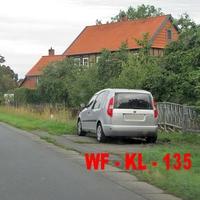 Der Silberne Skoda Roomster vom LK WF. Diesmal am OE WF Semmenstedt B 79.