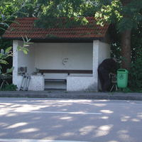 Dies ist der 3. Standort, wo in Lüß beblitzt wird. Das ist die Bushaltestelle. Mehrere Kästen werden auch hier in der Regel aufgestellt und lasst Euch nicht täuschen, auch wenn es schwer zu erkennen ist, geblitzt wird beidseitig