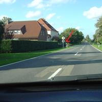 Mobiler Blitzer im grünen VW Passat 3B Kombi in der 70er Zone aus entgegenkommender Richtung ( Dohren --> Herzlake OT Felsen)