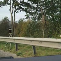Blitzer auf der Brücke in Fahrtrichtung Schleswig