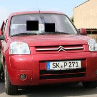 Messfahrzeug der Polizei Sachsen-Anhalt. Einen Tag nach dieser Messung, hatte das Fahrzeug ein neues Kennzeichen (ABI-MT 352).