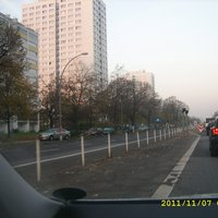 Das ist die Ansicht von der linken Fahrspur.