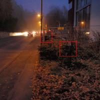 Sternbergstraße, Höhe Schule: Fröbelsimenar. Hier gilt 30km/h! Im Bild: Kamera und Blitz. Lichtschranke nicht zu sehen. Auf der anderen Seiten stand die Kamera und der Blitz auf der Friedhofsmauer.
