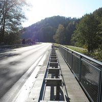 Bad Berneck auf der B 303 in Fahrtrichtung Bischofsgrün, auf Höhe Sportpaltz.