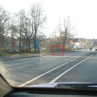 Blick von der anderen Seite (Blitzer&Fahrzeug dazu)