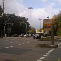 Fester Blitzer, damals Richtungsblickend zur Abfahrt A40 Richtung Dortmund.
