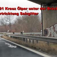 Wie immer unter der Brücke im Kreuz Ölper, Fahrtrichtung Salzgitter