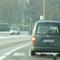 Heckblitzer aus dunklem VW Caddy