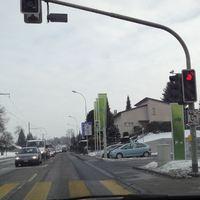 Blitzer auf der Fahrbahn Richtung Langenthal (Anfahrtsansicht)