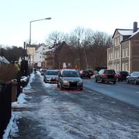 Beliebte Blitzerstrecke, Bornaer Straße Richtung Wittgensdorfer Straße. 30er Zone