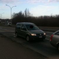 Messfahrzeug einer Privatfirma aus Wismar für Stralsund.