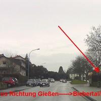 aus Richtung Gießen nach Biebertal/Abendstern  Blitzer ist rechter Hand