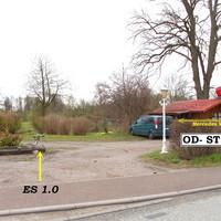 """Der """"Standort"""" des Einseitensensor ES 1.0 immer in der Einfahrt und ca. 5m von der Fahrbahn entfernt..."""