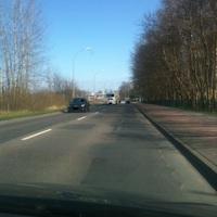 Gelaisert wurde in Richtung Ostseecenter. Rausgeholt wurden die Autofahrer gleich bei der Überquerungshilfe.