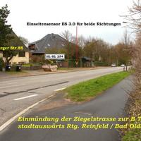 Anfahransicht aus Lübeck, Ziegelstrasse kommend...