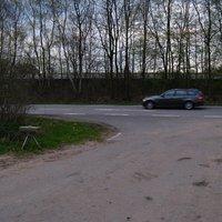 Richtung Barsbüttel, Meßwagen dunkelgrüner Mercedes-Transporter mit dem Kennzeichen OD ST 721.