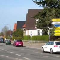 St. Jürgen Ring ( B 75 ) Richtung zum Berliner Platz über die Kreuzung Kronsforder Allee blickend... # 2903