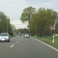 Die Anfahrt in Richtung Lüneburg, ersteinmal 70, 50 kommt danach.