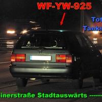 Der graue VW Passat Kombi (WF-YW-925) auf der Berlinerstraße Stadtauswärts kurz vor der Total Tankstelle.