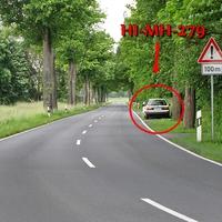 der alte VW Passat Kombi des LK Wolfenbüttel (HI-MH-279) mal wieder zwischen Salzdahlum und Sickte