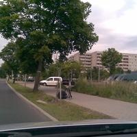 Alt-Glienicker Chaussee Weißer VW Caddy