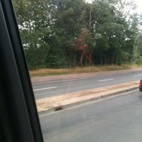 Messfahrzeug stand auf dem Hansedoomparkplatz so das sie die aufgebaute Messanlage sehen konnten.