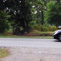 Ortsausgang Bandenitz, gegenüber vom Wasserweg, Richtung Schwerin Sicht vom Meßwagen aus