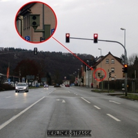 Ampelblitzer nach ARAL-Tankstelle: Blitzt aus Balingen Richtung Sigmaringen fahrende Verkehrssünder.