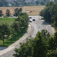 Linksabbieger Richtung Görlitz werden geblitzt. (Rotlichtblitzer)
