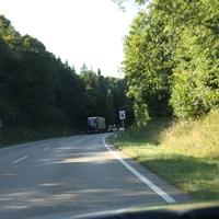 Anfahrt zur Messstelle Richtung Norden/A93/Siegenburg/Neustadt a.d. Donau, Landkreisgrenze Landshut/Kelheim